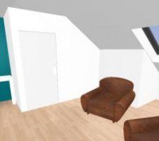 simulation cote bureau salle de musique