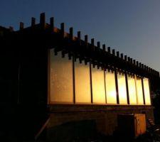 Ossature de la casquette au soleil levant :)