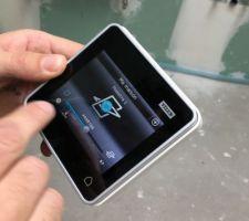 telecommande du vellux tactile avec choix de la grandeur d ouverture