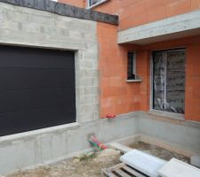 Porte de garage, noir