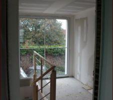 L'escalier et la mezzanine