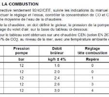Réglage de la combustion du brûleur - Riello 40G3 Millenium
