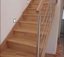escalier riaux avec rampe en inox