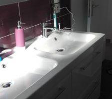 SDB  : meuble leroy merlin  armoire miroir casto