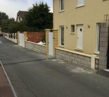 Avancement clôture