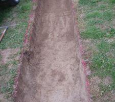 On creuse aussi dans la terre... Rattrapage erreur de cote.