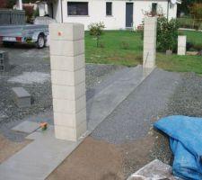 Rattrapage niveau au calcaire gris