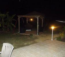 eclairage de la pergola et de la terrasse operationnel