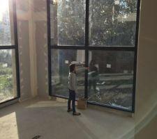 baie vitree salon