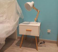 table de chevet potiron et lampe de chez cultfurniture