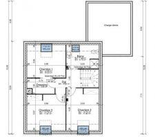 Plan de l'étage sous combles