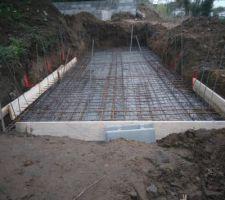 Dalle bassin de rétention eau de pluie