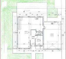 Plan masse des aménagements extérieurs