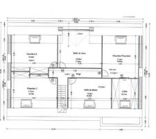 Il s'agit des plans validés. Le pignon côté chambre parentale est exposé Nord.