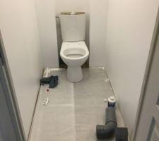 Pose du wc étage
