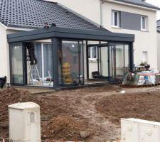 montage de la veranda