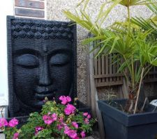 Déco jardin. Aller retour en Espagne fin septembre pour aller chercher nos statues repérées en vacances pour notre jardin esprit zen