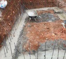debut construction piscine