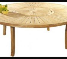 Table ronde avec plateau tournant pour 10 personnes