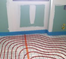 Plancher chauffant - Serpentins EC_SDB Enfants Etage