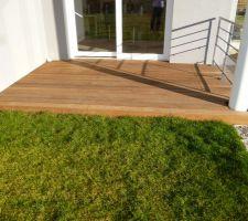 terrasse en bois exotique itauba sur lambourdes