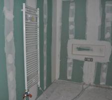 Semaine 44 - Pose des sèches-serviettes
