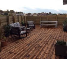 Terrasse bois et berlinoise de soutènement