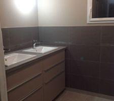Salle de bain double vasque meuble cuisine