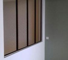 Verriere entre la  SdB et la chambre Fifille