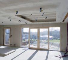 Plaquage plafond et murs extérieurs en Fermacell