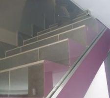Vitrine d'escaliers.