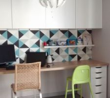amenagement d un coin bureau plan de travail lm mix de meubles ikea