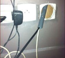 le cable passe dans la gaine