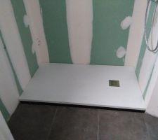 douche plate 1 50 blanche