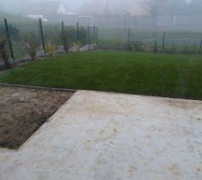 jardin sous le brouillard yvelinois