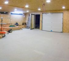 Placage OSB du garage