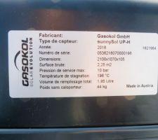 Pose des capteurs solaires sur chassis