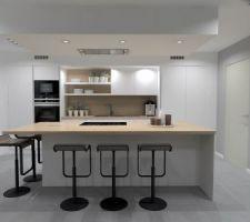 avant projet pour notre futur cuisine blanc mat et bois style scandinave joli non