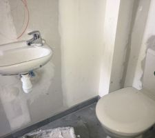 WC Rdc avec lave-mains