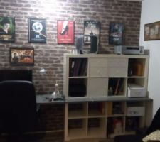 meuble case ikea plan de travail casto pour le bureau atelier qui commence a prendre forme