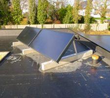Capteurs solaires installés