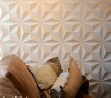 Idée de parement mural pour notre tête de lit et mur du dressing.