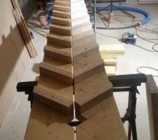 Escalier provisoir