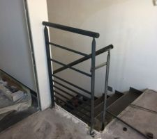 Rambarde escalier en cours