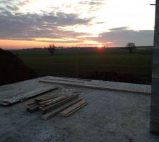 couche de soleil terrasse