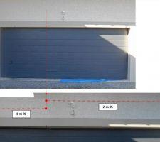 longues fissures au dessus de la porte de 5m du garage