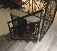 garde corps pour le retour de l escalier beton 1 4 tournant