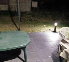 poteaux d eclairage de la terrasse