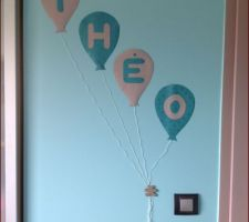 Deco fait avec le reste du papier peint de la chambre