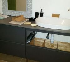 Montage du meuble et de la vasque de la salle de bain